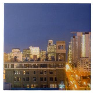 シカゴ、イリノイのスカイラインは西のループから撃ちました タイル