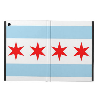 シカゴ、イリノイの旗との愛国心が強いipadの場合 iPad airケース