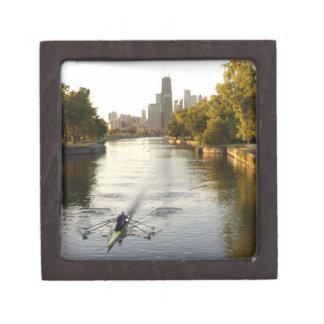シカゴ、イリノイのLincoln Parkの礁湖の漕ぎ手 ギフトボックス