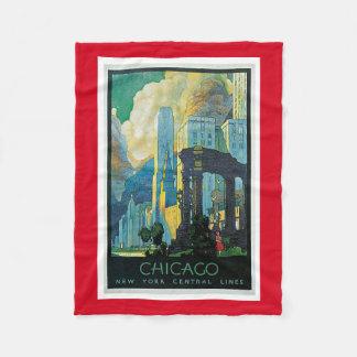 シカゴ フリースブランケット