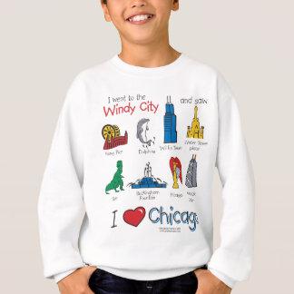シカゴ--子供アイコン新しい[Co スウェットシャツ