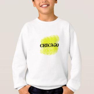シカゴ-黒および黄色 スウェットシャツ