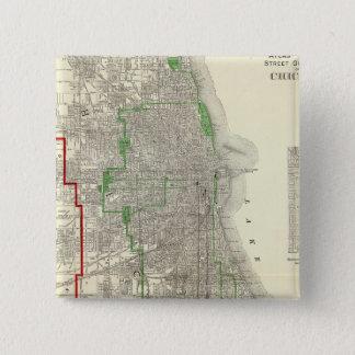 シカゴ 5.1CM 正方形バッジ