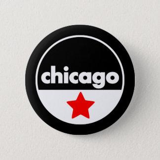 シカゴ 5.7CM 丸型バッジ