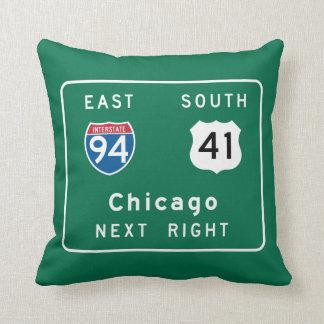 シカゴ、ILの交通標識 クッション