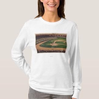 シカゴ、IL - Comiskey公園、ホームベース、Basebal Tシャツ