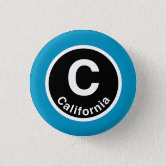 シカゴLカリフォルニアブルーライン 3.2CM 丸型バッジ