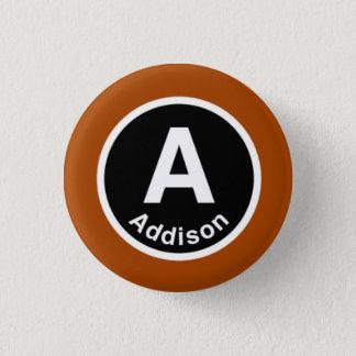 シカゴL Addisonブラウンライン 3.2cm 丸型バッジ