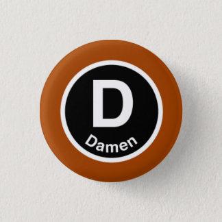 シカゴL Damenブラウンライン 3.2cm 丸型バッジ
