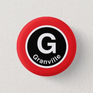 シカゴL Granvilleの赤線 3.2cm 丸型バッジ