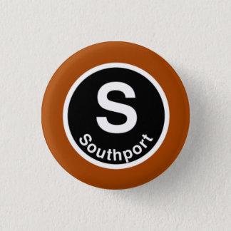 シカゴL Southportブラウンライン 3.2cm 丸型バッジ
