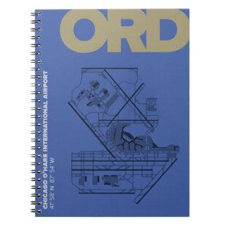 シカゴO'Hare空港(ORD)図表のノート ノートブック