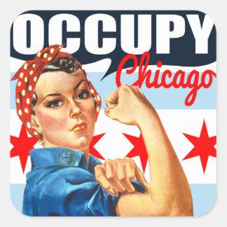 シカゴRosieをリベッターのステッカー占めて下さい スクエアシール