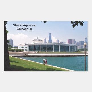 シカゴSheddのアクアリウムのコレクション 長方形シール