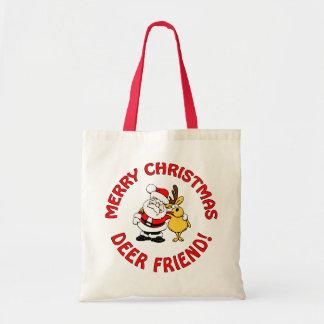 """""""シカ友人""""のクリスマスのバッグ-スタイル、色を選んで下さい トートバッグ"""