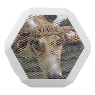 シカ犬-かわいい犬- whippet ホワイトBluetoothスピーカー