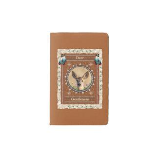 シカ- Gentlenessのノートのモールスキンカバー ポケットMoleskineノートブック