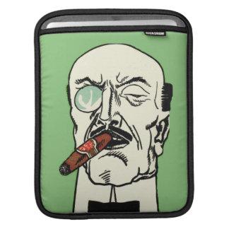 シガーおよびMonocleを持つヴィンテージの禿げた紳士 iPadスリーブ