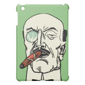 シガーおよびMonocleを持つヴィンテージの禿げた紳士 iPad Mini カバー