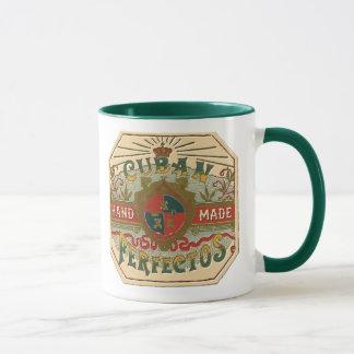 シガーの広告のキューバ人のPerfectosのタバコのラベル マグカップ
