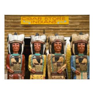シガー店のインディアンの彫像 フォトプリント