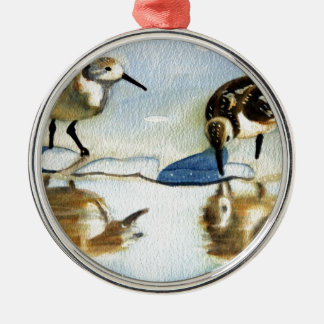 シギ7の鳥、海、航海のなビーチ芸術 メタルオーナメント