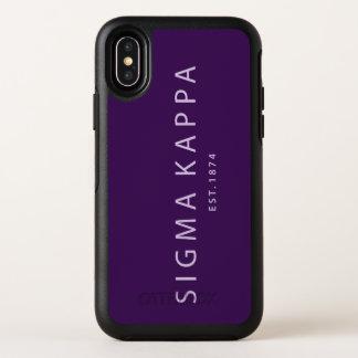 シグマΚのモダンのタイプ オッターボックスシンメトリー iPhone X ケース