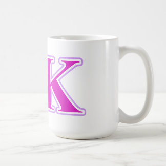 シグマΚのラベンダーおよびピンクの手紙 コーヒーマグカップ