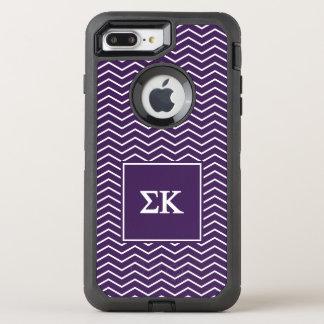 シグマΚ |シェブロンパターン オッターボックスディフェンダーiPhone 8 PLUS/7 PLUSケース