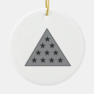 シグマPiピラミッドの灰色 セラミックオーナメント