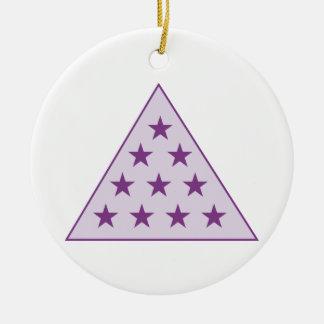 シグマPiピラミッドの紫色 セラミックオーナメント