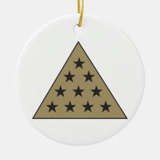 シグマPiピラミッドの金ゴールド セラミックオーナメント