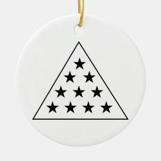 シグマPiピラミッドB+W セラミックオーナメント
