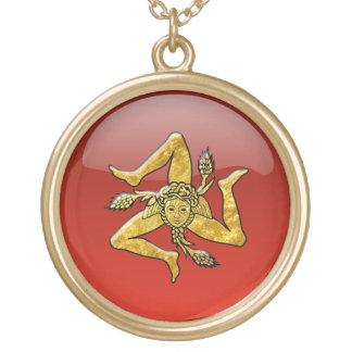 シシリアのTrinacriaのガラス一見の金ゴールド ゴールドプレートネックレス