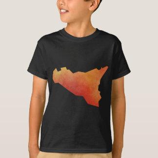 シシリーの地図 Tシャツ