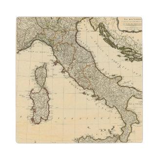シシリーの島が付いているイタリアの新しい地図 ウッドコースター