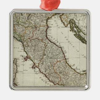 シシリーの島が付いているイタリアの新しい地図 メタルオーナメント