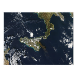 シシリーのMt Etnaの噴火 フォトプリント