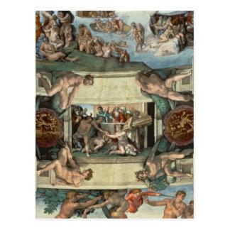システィーナ礼拝堂の天井 ポストカード