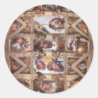 システィーナ礼拝堂の天井 ラウンドシール