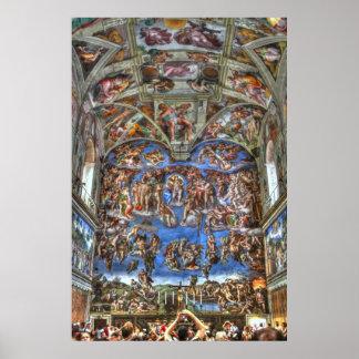 システィーナ礼拝堂、バチカン市国、ローマ、イタリア ポスター
