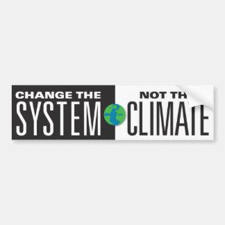システム気候ではなくを変えて下さい バンパーステッカー