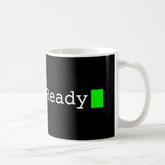 システム準備ができたレトロコンピュータフォントのマグ コーヒーマグカップ