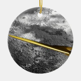 シス形の月の周囲の空間 セラミックオーナメント