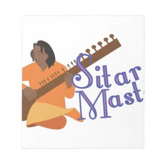 シタールのマスター ノートパッド