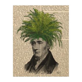 シダのヘッド植物の頭部 ウッドウォールアート