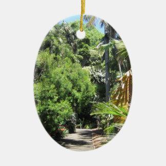 シダの木の細道 セラミックオーナメント