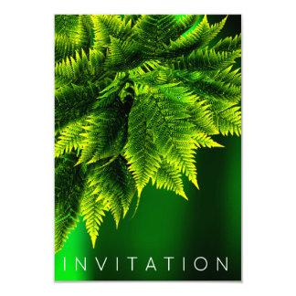 シダの熱帯シェフの夕食の緑の草木のエメラルドグリーン カード