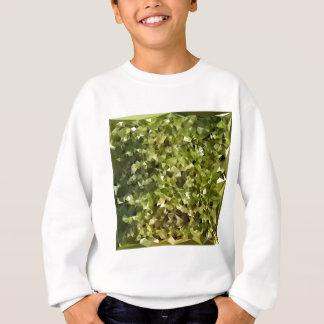 シダの緑の抽象芸術の低い多角形の背景 スウェットシャツ