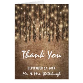 シダレヤナギの木のヴィンテージの結婚は感謝していしています カード